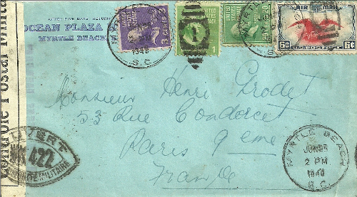 controle postal WK 422