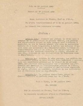 Vichy 29 07 1940