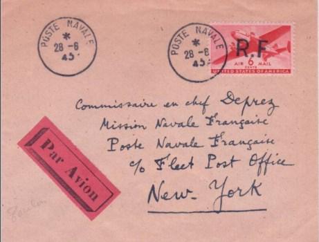 28 08 1945 mission navale française aux Etats-Unis