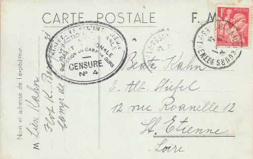 14 01 1941 camp de gurs