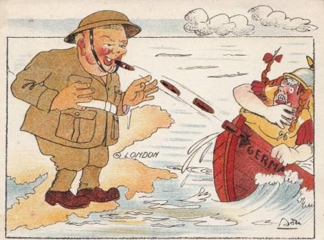 la bataille d'Angleterre par en caricature