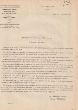 01 09 1943 commissariat sto lettre aux maires