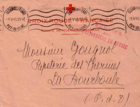 croix rouge service des prisonniers de guerre 1942