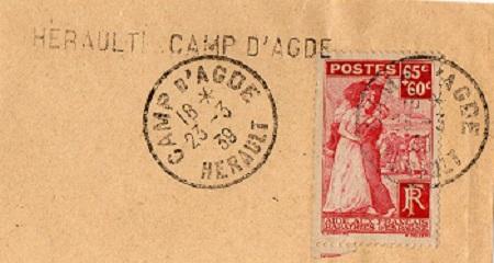 prisonniers civils Cap d'Agde 23 03 1939