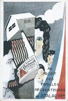 carte illustrée de stalag stalag VIII A