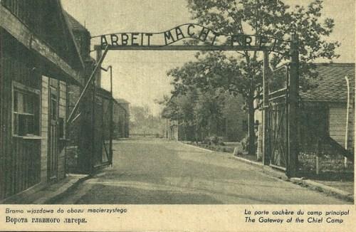entrée du camp de concentration d´AUSCHWITZ