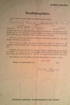 certificat de libération de prisonnier de guerre stalag II B