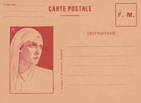 carte FM illustration infirmière croix rouge