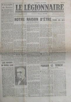 LE LEGIONNAIRE journal de Mai 1942