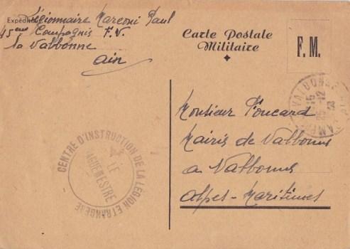 centre d'instruction de la légion étrangère à Valbonne 12 1939