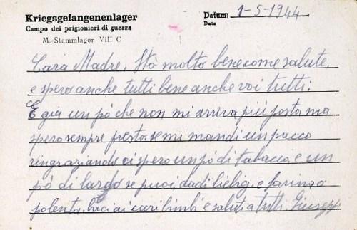 stalag V III C prisonnier italien 01 05 1944