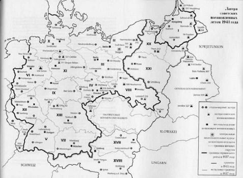 carte des camps dans le REICH