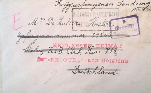 stalag VI B retour de prisonnier belge