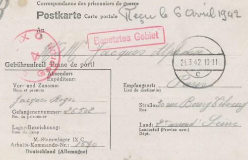 24 03 1941 stalag IX C