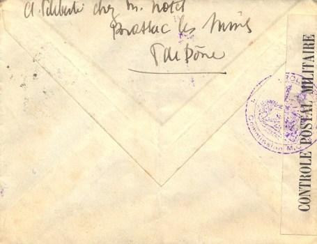 controle postal Déesse assise MC 182