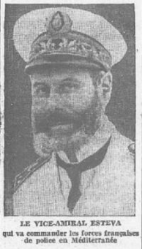 le vice amiral Esteva