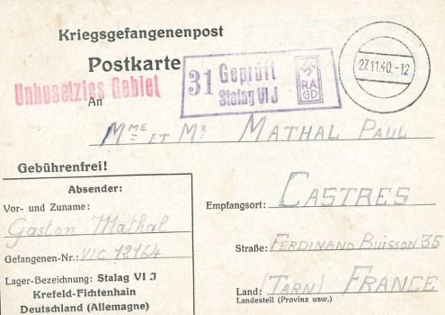 27 11 1940 stalag VI J