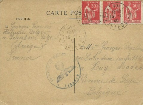 13 07 1940 réfugié belge à Sète