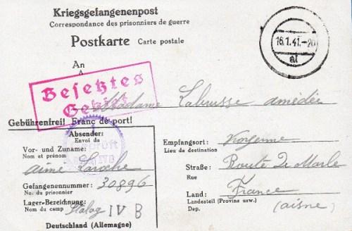 16 01 1941 stalag IV B