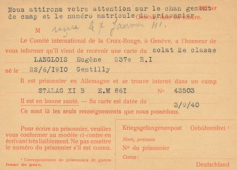 croix rouge renseignements prisonniers de guerre