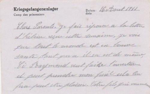 04 09 1941 stalag VIII A verso