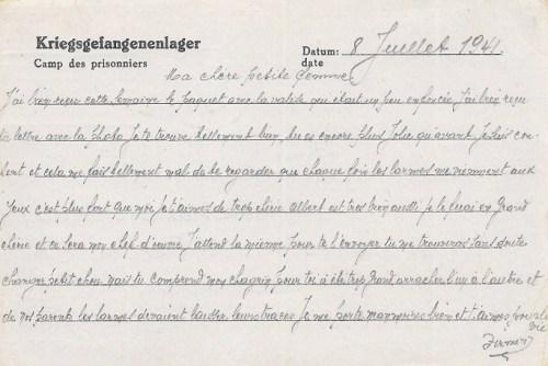 16 07 1941 stalag VIII A verso