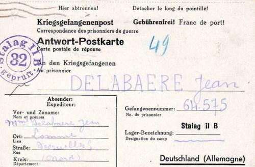 23 03 1942 stalag II B recto
