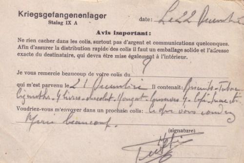 31 12 1941 stalag IX A