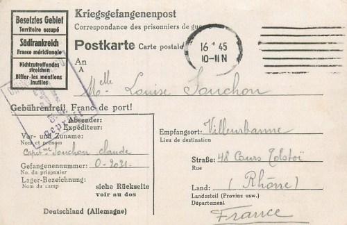 16 01 1945 oflag IV D