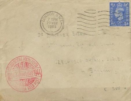 23 05 1944 armée tchèque en GB