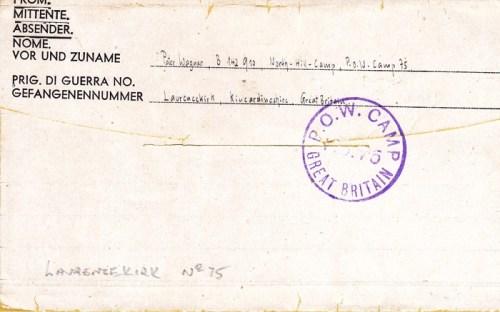 prisonniers de guerre allemands en GB camp n°75