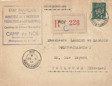 29 03 1944 camp de Noé