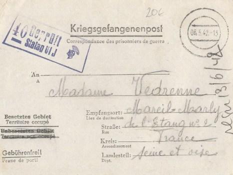 06 05 1942 stalag VI J