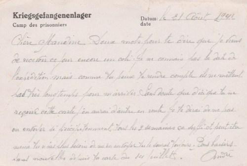 21 08 1941 stalag XVIII A