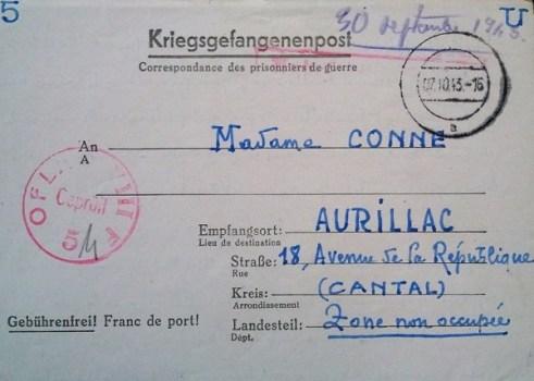 oflagVIIIF marque spéciale sur courrier