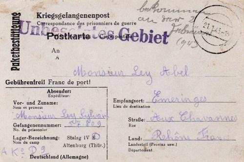 21 01 1943 stalag IVD