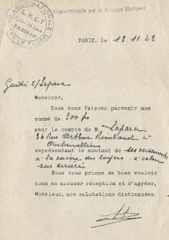 ligue nationale contre le taudis aide du secours national 1943