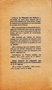 priere pour la paix 29 09 1939 verso