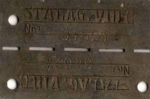 stalag VIII C plaque 34624 mouton auguste