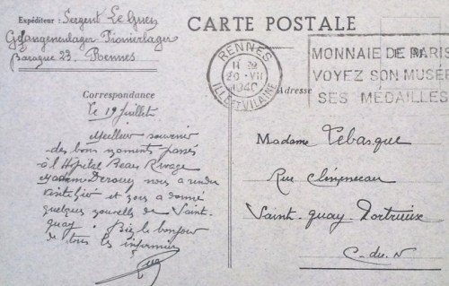 front stalag de Rennes 20 07 1940