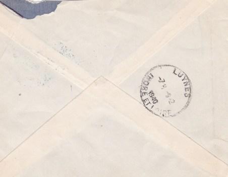 n° de secteur postal gratté
