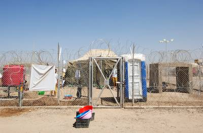 Detainee housing unit, Camp Remembrance, new Abu Ghraib prison, ABu Ghraib, Iraq. Richard Ross
