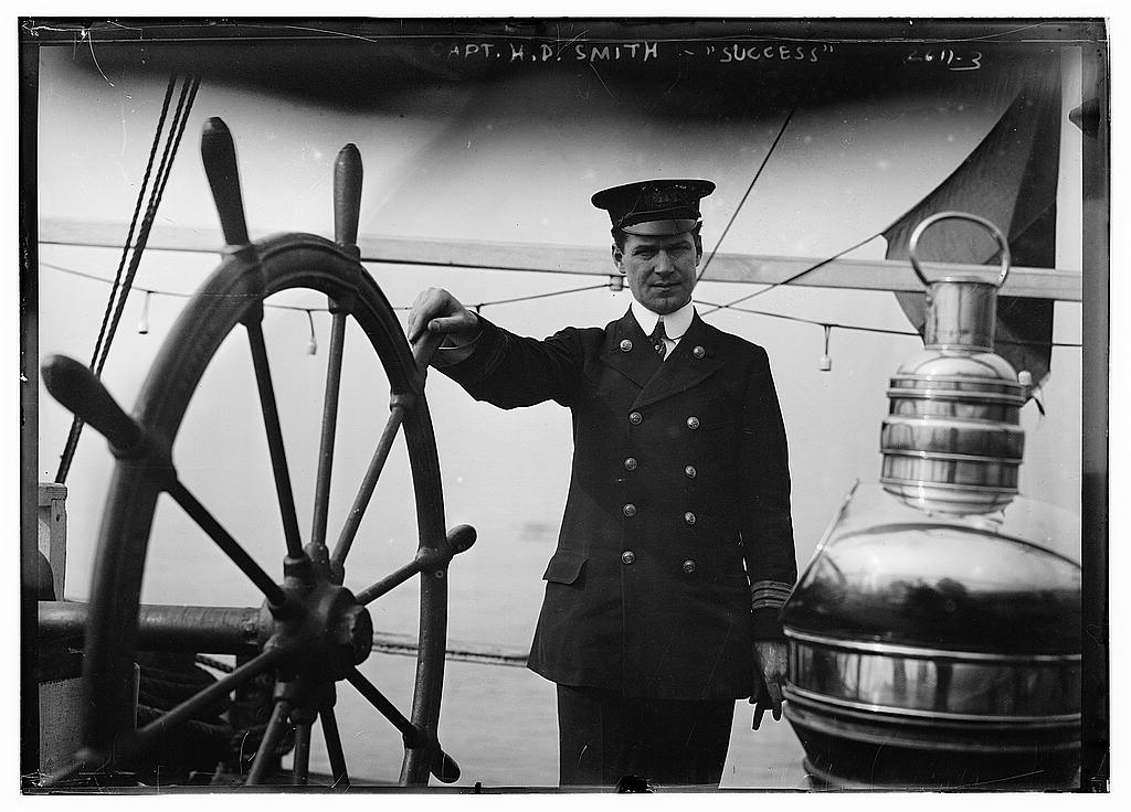 Capt. H.D. Smith of SUCCESS, Date Unknown. Glass negative. George Grantham Bain Collection (Library of Congress). Call Number: LC-B2- 2611-3