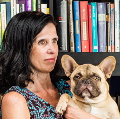 Author Mikita Brottman with Oliver photographed in her Mt. Vernon Apartment