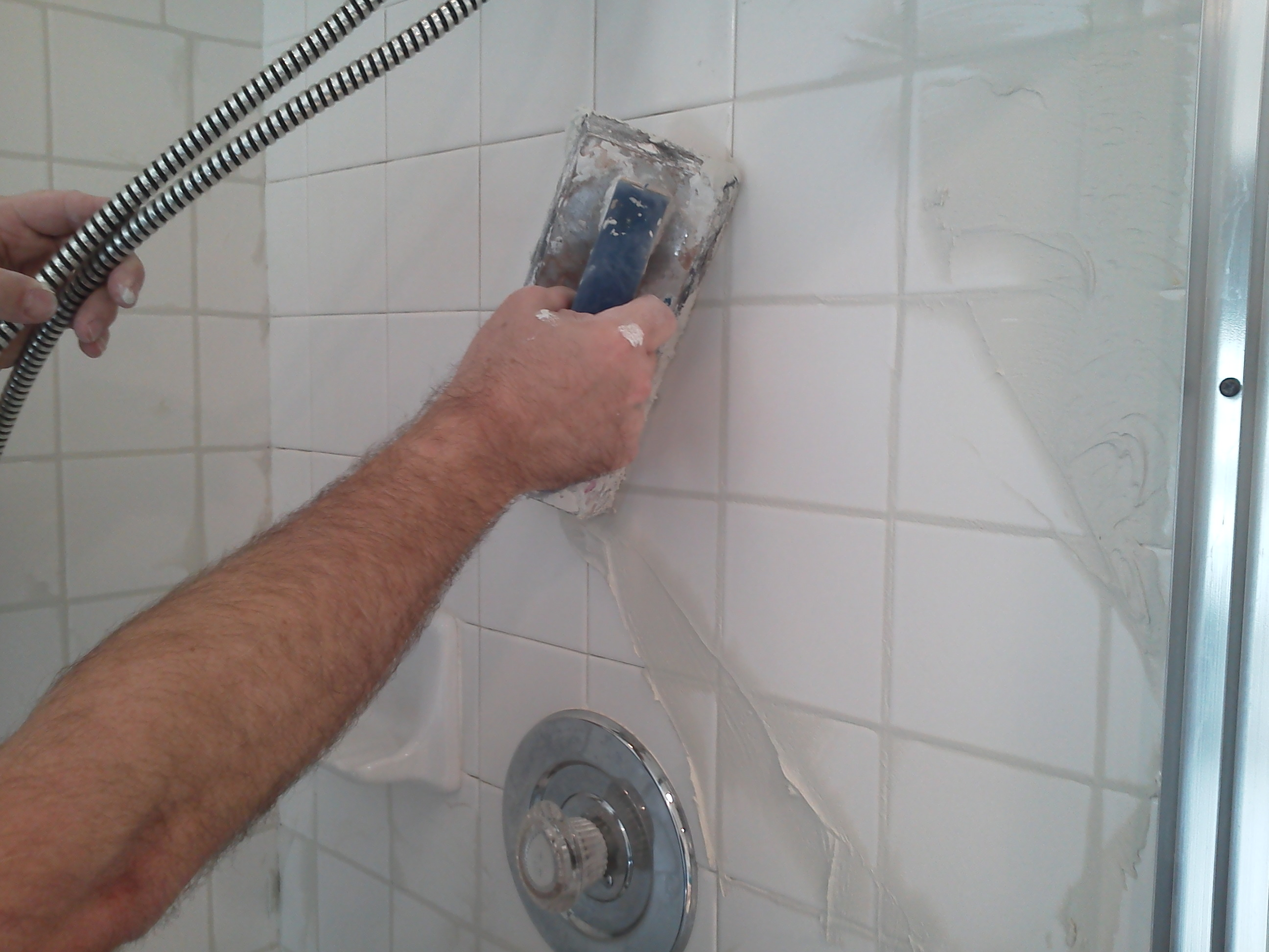 Bathroom Grout How To Regrout A Shower Pristine Tile Carpet Cleaning