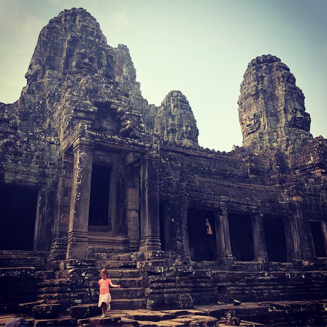 Ta Phrom Temple with child