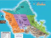 Oahu Map Hawaii Island