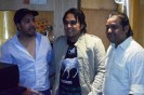 Mika Singh, Pritish Chakraborty and Rashid Khan at Song Recording, Studio in Andheri West, Mumbai