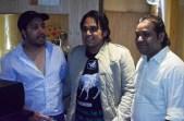Mika Singh, Pritish Chakraborty and Rashid Khan at Song Recording, Studio in Andheri West, Mumbai