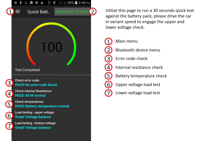 hight resolution of hybrid hv battery full test